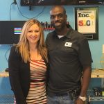 Stacy Johson and Rico at Discount Electronics, Round Rock
