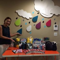 Table of Grace receives supplies for welcome kits