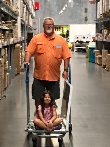 Jim helping with supplies at Ikea