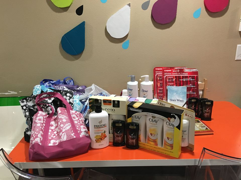 Supplies donated from Jani-King in Cedar Park