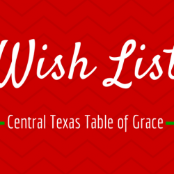 Central Texas Table of Grace holiday wish list from Walmart