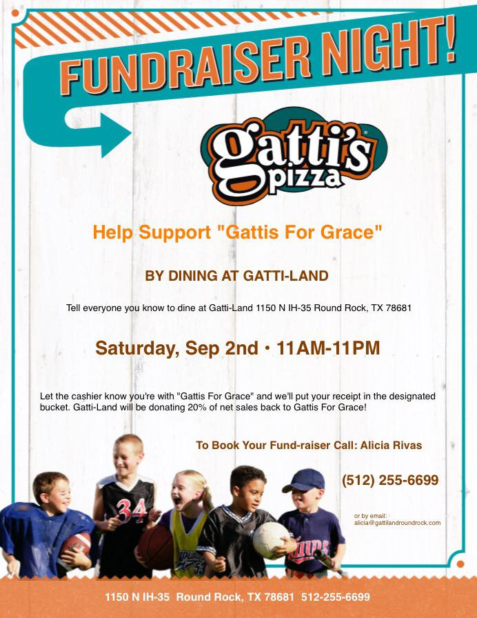 Gatti's for Grace fundraiser to benefit Central Texas Table of Grace